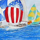 Parade of NATIONS... Spinnakers... by Rob Beilby