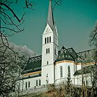 Church in Bled. by DeePhoto
