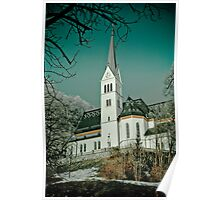 Church in Bled. Poster