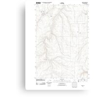 USGS Topo Map Oregon Moro 20110903 TM Canvas Print