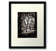 Leaving the park Framed Print