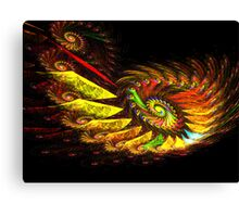 Zcone Colorful Depth Spiral (Pong 8) Canvas Print