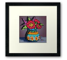 Scribbler Vase of Flowers Framed Print