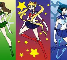 Sailor Scouts by sleepingredfox
