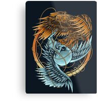 The Raven and the Owl Metal Print