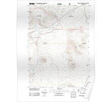 USGS Topo Map Oregon Pumice Desert West 20110722 TM Poster