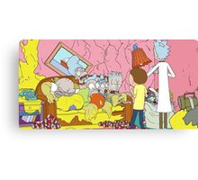 Rick and Morty Simpsons Canvas Print