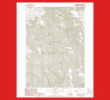 USGS Topo Map Oregon Telephone Butte 281761 1990 24000 Baby Tee