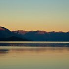 Lake Wakatipu at Dusk (compilation) by Odille Esmonde-Morgan