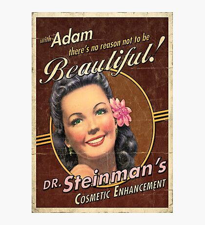 BioShock – Dr. Steinman's Cosmetic Enhancement Poster Photographic Print