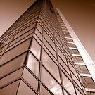 Obel Tower from below, Belfast by Chris Millar