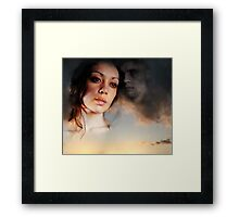 "Stay Beside Me Whisper To Me ""Here I Am"" And The Loneliness Fades... Framed Print"