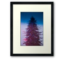 Dicolour Snow Framed Print