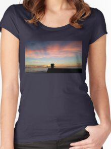 Coffee And A Beautiful Ocean Sunrise Women's Fitted Scoop T-Shirt