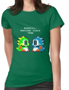 Bubbles. Awesome since 1986 Womens Fitted T-Shirt