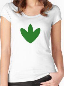 T Rex Footprint Women's Fitted Scoop T-Shirt