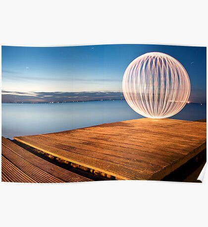 orange orb - on the jetty Poster