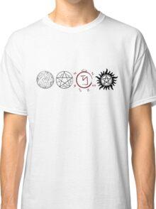 Supernatural Protection (Dark Symbols) Classic T-Shirt