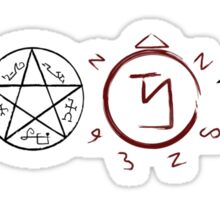 Supernatural Protection (Dark Symbols) Sticker