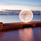 orange orb - pano jetty by Julian Marshall