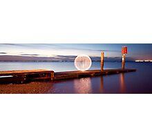 orange orb - pano jetty Photographic Print