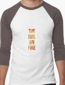 The Girl on Fire Men's Baseball ¾ T-Shirt