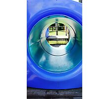 Blue Tunnel Photographic Print