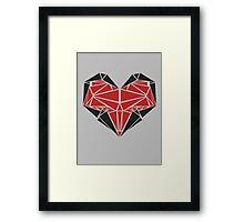 Triangle Love Framed Print