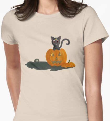 Peek-a-BOOOOO!!   Womens Fitted T-Shirt