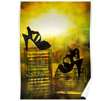 Walking on color Poster