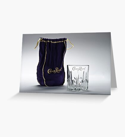 Crown Royal ad Greeting Card