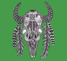 Animal Skull Zentangle  Kids Clothes