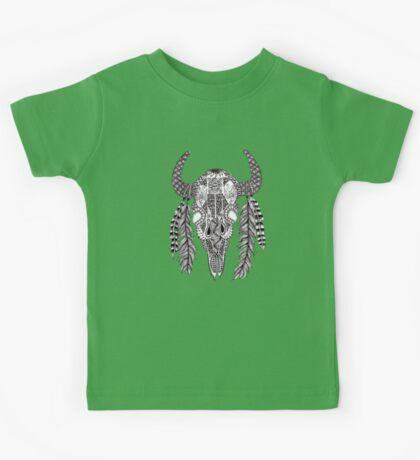 Animal Skull Zentangle  Kids Tee