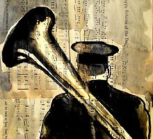 he played tuba in the band by Loui  Jover