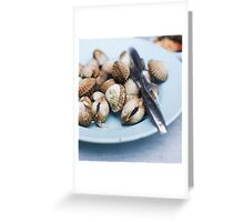 grilled cockles Greeting Card