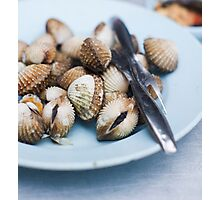grilled cockles Photographic Print