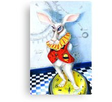 Wonderland Rabbit, It is Later than You Think,  Canvas Print