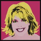 Sam Carter Pop Art on Pink by ezraingram