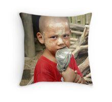 Burmese boy. Throw Pillow