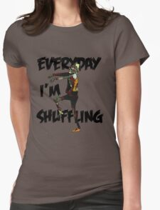 zombie shuffle Womens Fitted T-Shirt