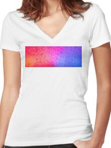 5-0 in Snow Women's Fitted V-Neck T-Shirt