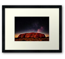 The Dreaming Rock - Night Framed Print