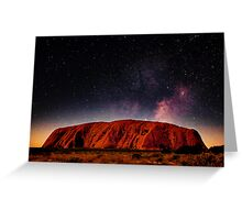 The Dreaming Rock - Night Greeting Card