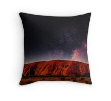 The Dreaming Rock - Night Throw Pillow