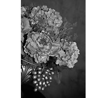 Elegant Bouquet Flower - Black & White Photographic Print