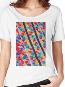colorful kites flying in the sky Women's Relaxed Fit T-Shirt