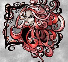 Lost in Swirls of Curls by AlexKujawa