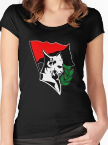 Durruti - Anarchy Flag Women's Fitted Scoop T-Shirt