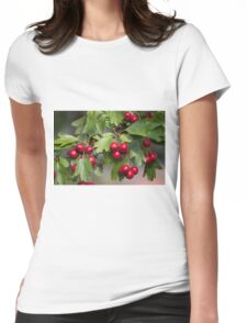 red berries in the garden Womens Fitted T-Shirt