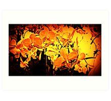 Firey Flowers Art Print